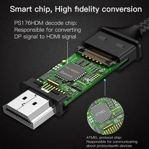 Image 4 - Baseus USB C إلى HDMI كابل نوع C إلى HDMI محول Thunderbolt 3 ل ماك بوك باد برو 2018 هواوي Mate20 برو 4K فيديو كابل USB C
