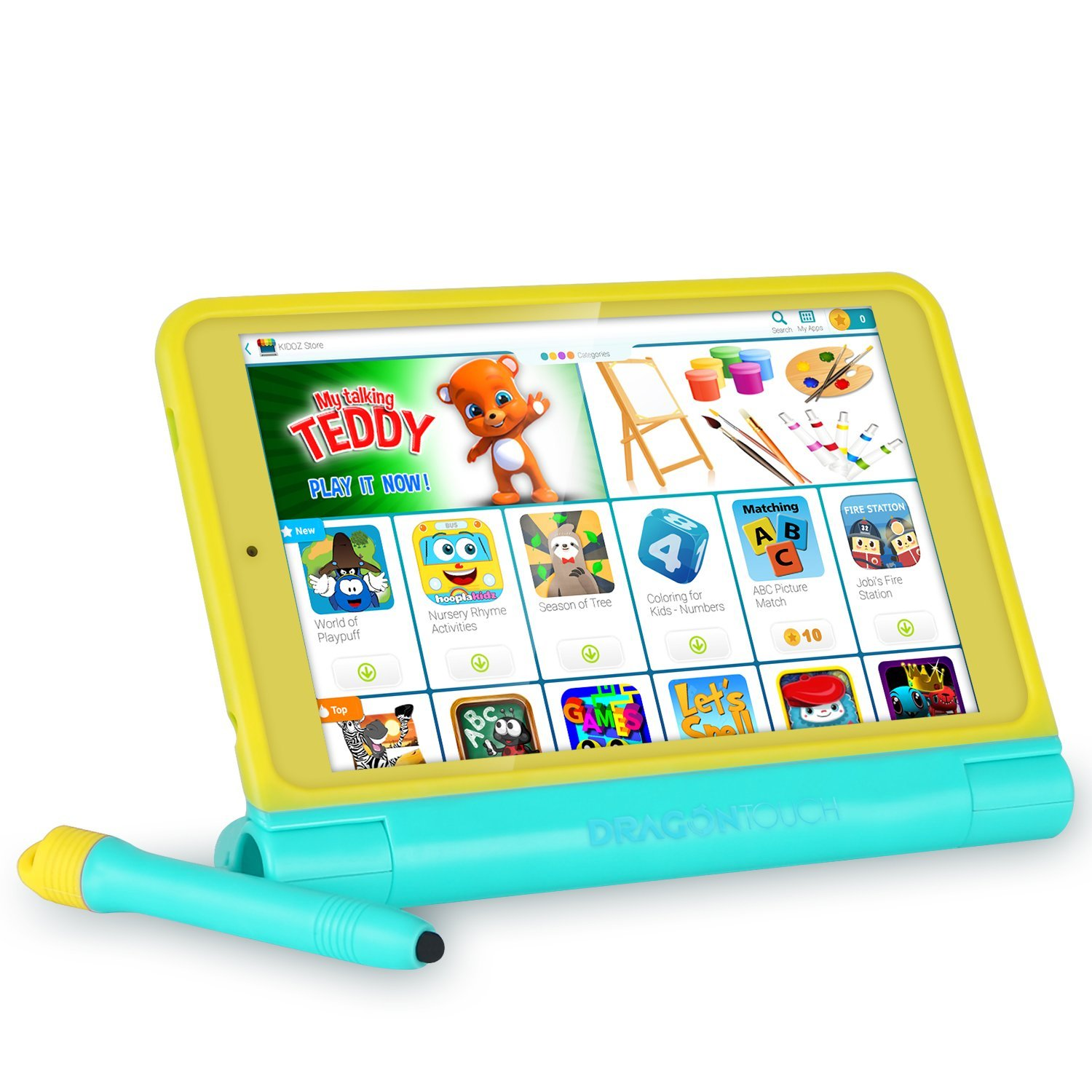 DragonTouch K8 8inch Kids Tablet Kidoz Pre-Installed 2GB RAM 16GB ROM IPS Display Android 6.0 Marshmallow Android Tablet