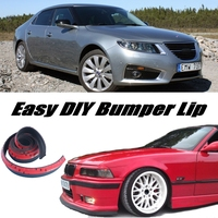Bumper Lip Deflector Lips For Saab 9 5 95 Front Spoiler Skirt For Car Tuning View / Body Kit / Strip
