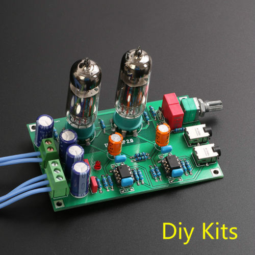 Class A 6J5 Valve Pre-amp Tube Buffer PreAmplifier Board Headphone Amplifier Kit