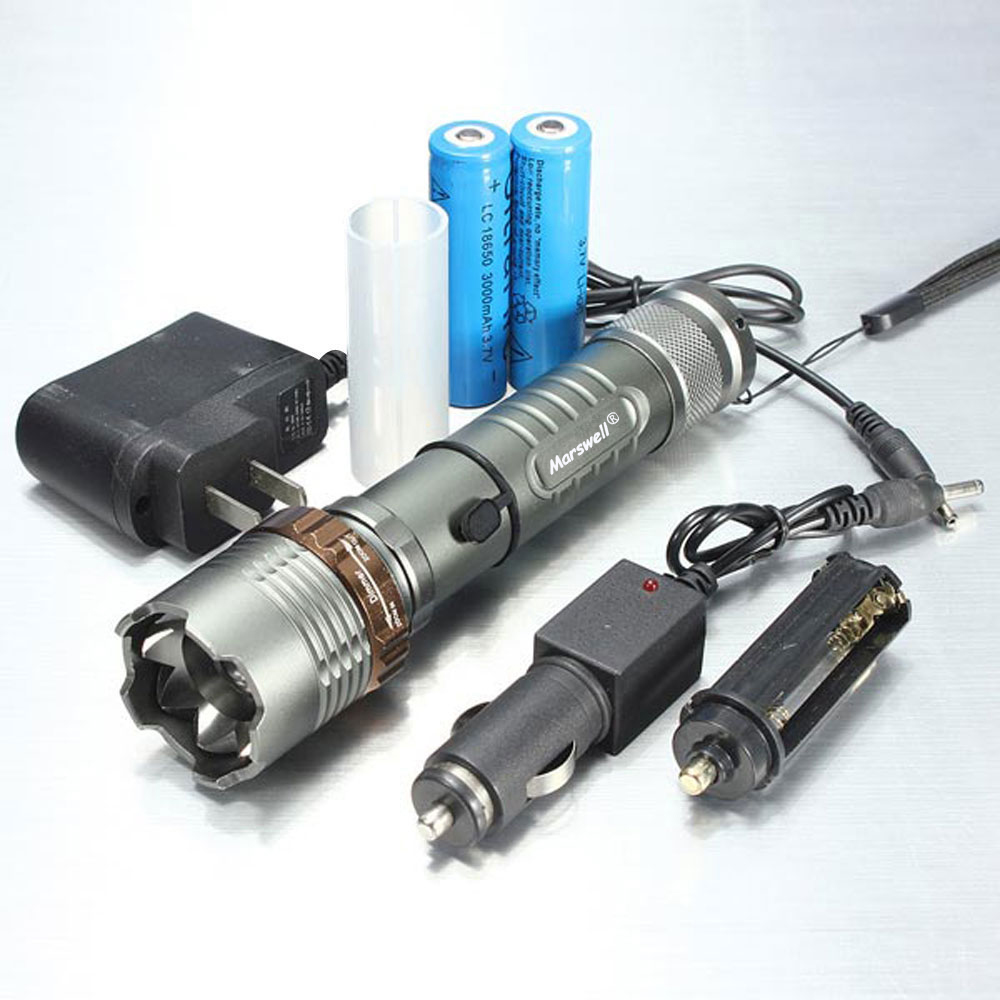 Led flashlight Ultra Bright torch T6L2V6 Camping light 5 switch Modes 10000 LM Zoomable Bicycle Light use 18650 battery (4) - 副本