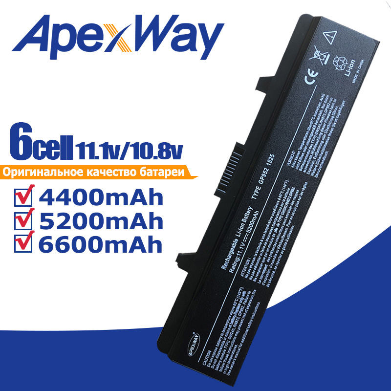 11.1V סוללה למחשב נייד עבור Dell Inspiron 1525 1526 - אביזרים למחשב נייד
