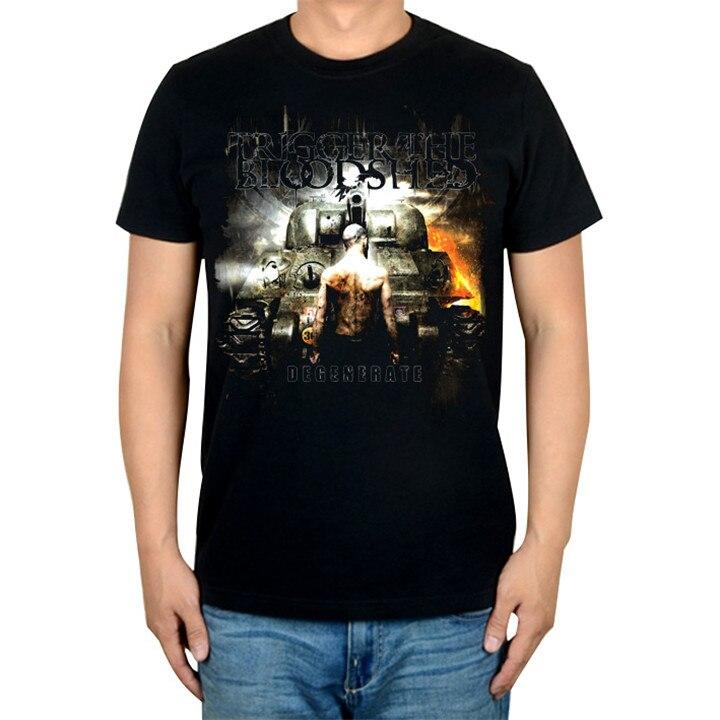 5 видов иллюстрации триггер Кровопролитный рок Бренд музыкальная футболка хлопок панк фитнес тяжелый рок металлическая война Танк Doomsday - Цвет: 1