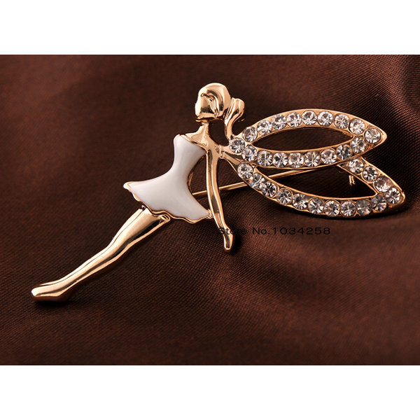 New hot fashion angel wing brooch pin rhinestone paved for Bling jewelry coupon code