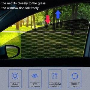Image 1 - 2 шт ., автомобильные солнцезащитные очки , сетка, Электростатическая наклейка , боковое окно, солнцезащитный козырек, автомобильная интерьерная занавеска , УФ защита, внешние аксессуары