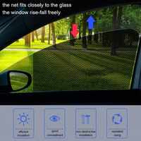 2Pcs Auto Sonnenschutz Mesh Elektro Aufkleber Seite Fenster Sonnenschutz Auto Innen Vorhang UV Schutz Außen Zubehör