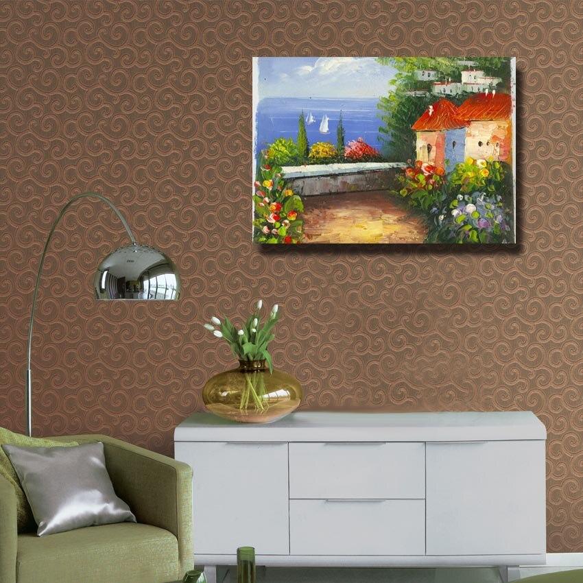 Moderne Hauptdekoration Wandbild Acryl Malerei Spachtel Handgemalte .