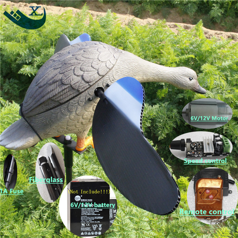 Xilei Wholesale Outdoor Hunting Remote Conrol Plastic Greenhead Duck Hunting Hunting Duck Traps With Magnet Spinning Wings wholesale russia outdoor hunting decoys remote control 4 aa battery hunting duck with magnet wings spinning