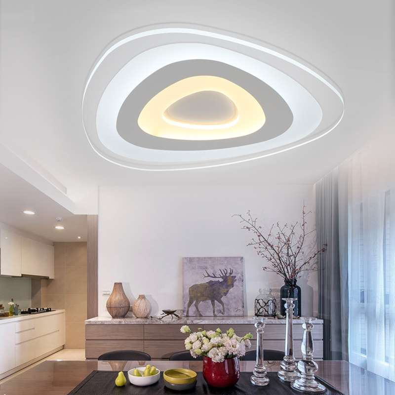 Modern ceiling LED lamps bedroom modern minimalist personality ultra thin circular led Zhuwo ceiling lamps control children ET60 modern minimalist ceiling lamps led lamps lighting acrylic stars children s room warm ultra thin bedroom lamp