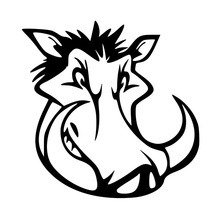 Car stying 15*15CM Personality Of Wild Boar Head Sticker Funny Styling Vinyl Decals Jdm