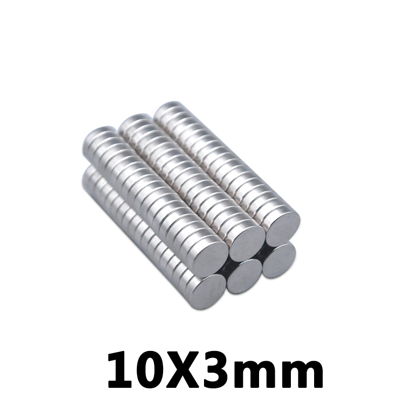 30PCS 10mm x 3mm strong round <font><b>magnet</b></font> <font><b>Magnet</b></font> <font><b>10X3mm</b></font> rare earth neodymium <font><b>magnet</b></font> 10 * 3mm image