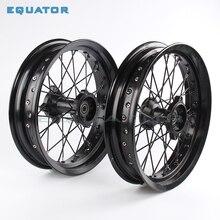 """12 мм 15 мм передние 1,40x1"""" дюймовые задние 1,85x12"""" дюймовые колеса из сплава для 160cc 150CC Dirt Pit bike 12 14 дюймовые колеса"""