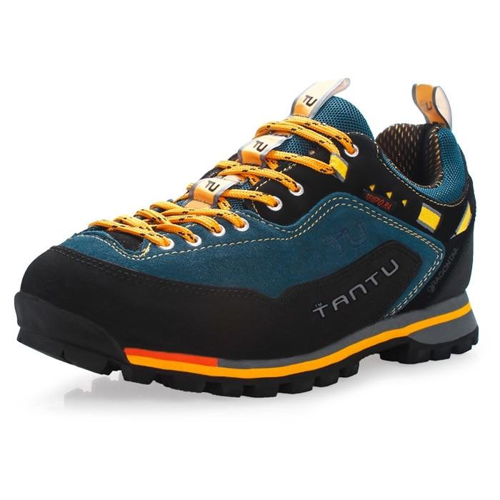 TANTU Genuine Leather Hiking Shoes Water-resistant Outdoor Trainers Hiking Boots Trekking Sport Sneakers Men Hunting Trekking
