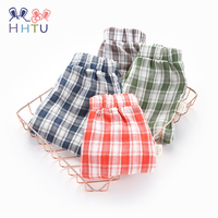 HHTU Children Baby Girls Pants Cotton Spring Autumn Elastic Solid Casual Long Pants Soft Costume For