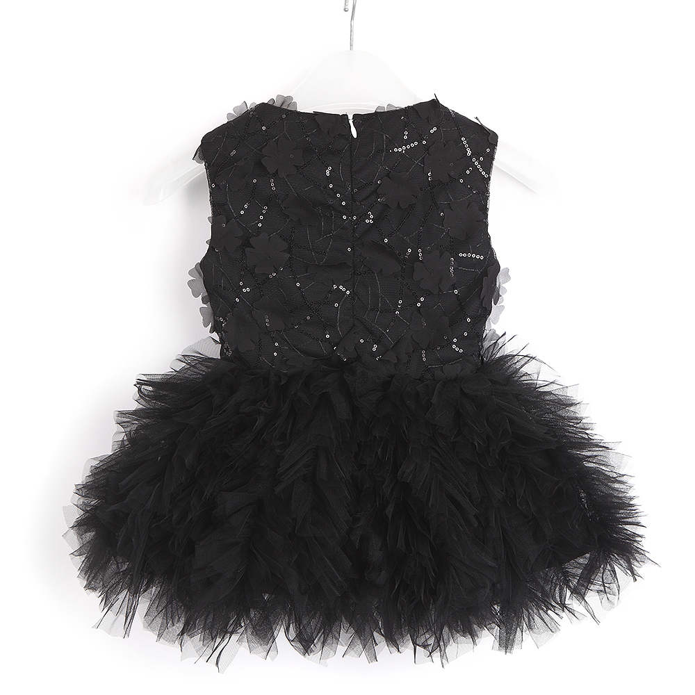 2021 Baby Girl Tutu Dress Costume For Kids Sleeveless Christening Tulle Sequined Wedding Party Princess Toddler Clothes 3