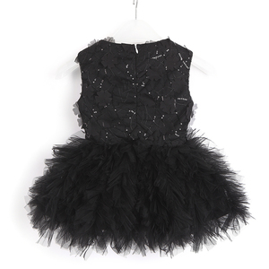 Image 3 - Baby Girl Tutu Dress Costume For Kids Sleeveless Christening Tulle Sequined Wedding Party Princess Toddler Clothes