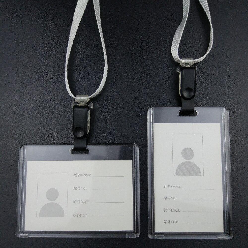 Magas színvonalú ajándékkártyatulajdonosok és lógó klipek csoportos munkája Kártya jelvényt alkalmazó névjegykártya márka akril kristály járókelők