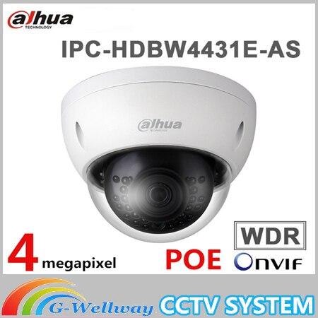 original ahua DHI-IPC-HDBW4431E-AS 1080P IR mini Dome Network Camera IPC-HDBW4431E-AS CCTV Security camera mini ir uv as