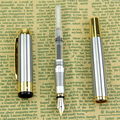 2016 NEW Brand Noble Golden & Silver Stainless Fountain Pen Hot Sale Nib Gift High Quality Free Shipping