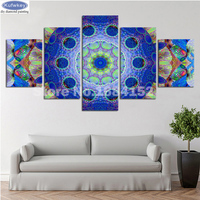 5 Pcs Diamond Painting Mandala Cross Stitch Full Square Diamond Embroidery Flowers Abstract Picctures mosaic Home Decoration