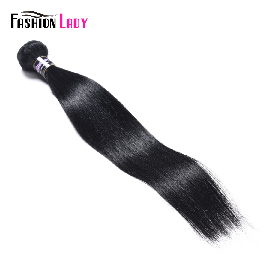 Fashion Lady Pre-colored Malaysian Straight Hair Bundles 100% Human Hair 1# Jet Black 3/4 Bundles Hair Weave Extensions Non-remy