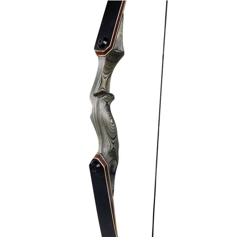 Toparchery 30/40/50lbs 60 pulgadas tomar caza arco de madera vertical arco recurvo arco nueva tecnología miembros arco de tiro al aire libre - 6