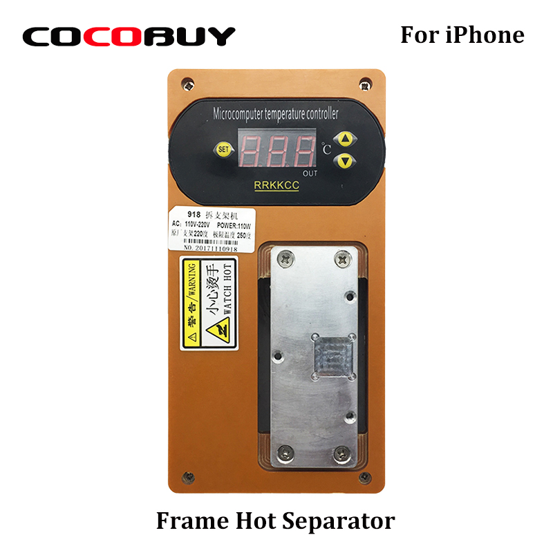 Novecel Bezel Dismantle Machine Middle Frame Separator Remove Holder Bracket Heating Platform Only for Repairing Iphone Phones quality iphone 4s replacement mid board middle bezel chassis frame housing