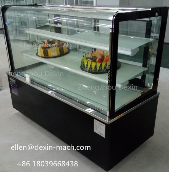Online Shop Round Angle Refrigerated Bakery Bread Cake Showcase ...