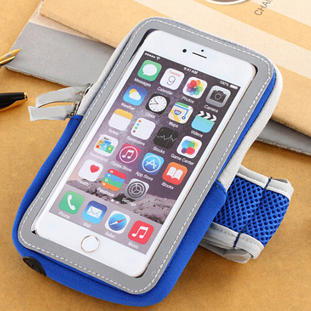 more photos 81fb4 00dd6 US $3.0 21% OFF|Armband Arm Band Waterproof Phone Case Cover Running Sports  Belt Pouch Bag For Iphone 7 6 6s / Xiaomi Redmi Note 4.7'' phone-in ...