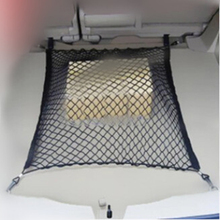 Elastic Nylon Car boot string bag Trunk Storage Organizer auto storage Net for Peugeot 206 207 208 301 307 308 407 2008 3008(China)