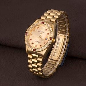 Image 5 - REGINALD Luxury Gold Mens Watches Unique Business Dress Wristwatch for Man Woman Clock Golden montre homme marque de luxe