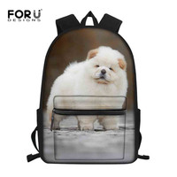 FORUDESIGNS Chow Chow Backpack for Teen Boy Girl Children Kindergarten School bag Teenager Schoolbags Kids Student Backpacks