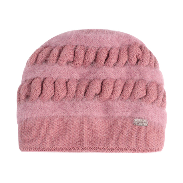 Knitted Thicken Double Layer Elegant Casual Wool Blend Beanies