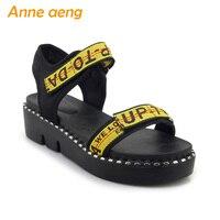2018 New summer women sandals wedges heel platform casual style elastic band beach sandals light white shoes women big size 44