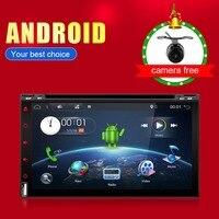 Bosion 2 din Android 6.0 car radio 6.95 inch HD Touch Screen Quad Core 32GROM GPS NAVI MP5 SD/FM/MP4/USB/AUX/Bluetooth Car Audio