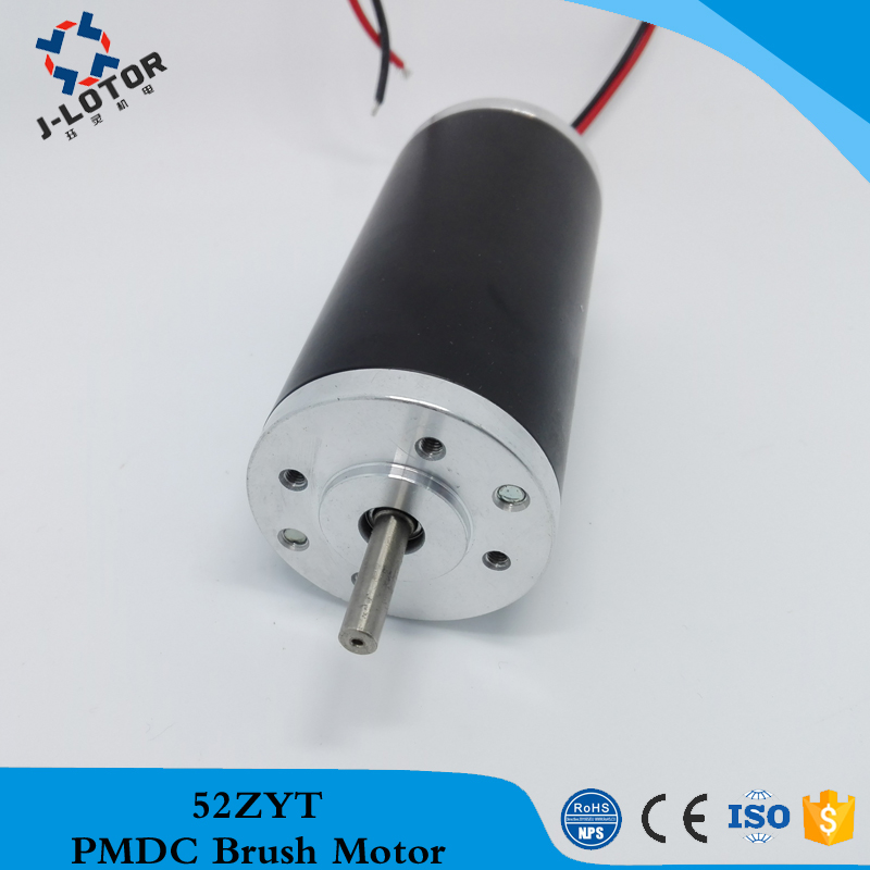 52ZYT03A  3000rpm 12V 24V 48V price small electric dc motor Permanent Magnet Brush DC Electric Motor with 0.17N.m for bicycle with gear 40w 50w hand cranked generator dc small generator 12v 24v permanent magnet dc motor dual use