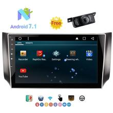 Eincar 2 Din 10.1″ Car Stereo for SYLPHY Android 7.1 Car Autoradio Support GPS,SWC,Bluetooth,WIFI,AM/FM Radio+Free Rear Cam