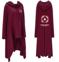 Big size Avengers Iron Man Green Giant Captain America Hoodie 3D Sweatshirt Fashion Shield Hoodie Long Jacket