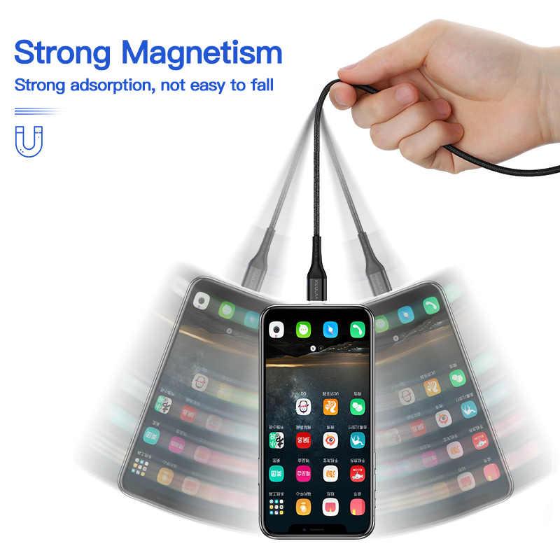 KUULAA Từ Cáp Sạc USB iPhone 11 Pro X XR SE 8 7 6 Plus Sạc Nhanh USB Sạc Nam Châm dây Cáp Sạc Nhanh USB Dây