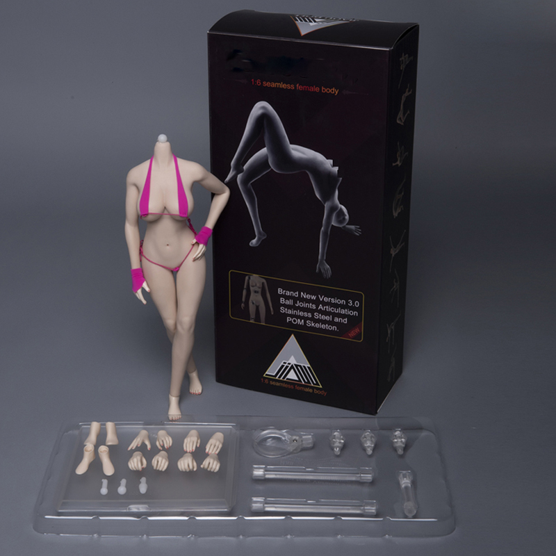 1//12 Heng Toys HY001A Female Pale Joint Body Action Figure  Model Custom Doll