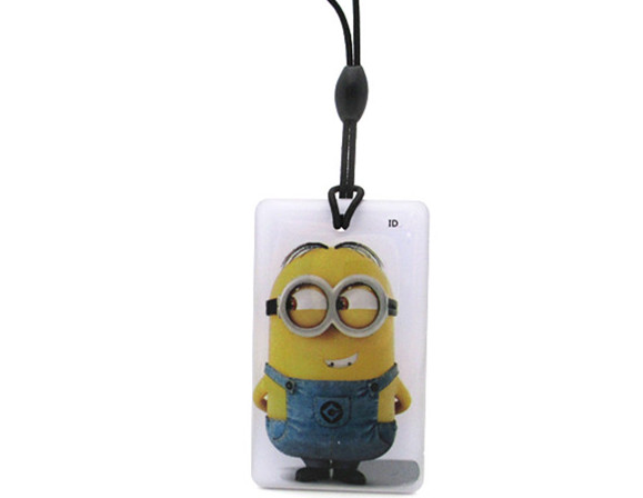 5pcs/lot Cartoon Despicable Me RFID IC Key Tags Keyfobs Token NFC TAG Keychain 13.56MHz for Arduino 5pcs lot ic k9gag08u0e k9gag08uoe scbo k9gag08u0e scb0