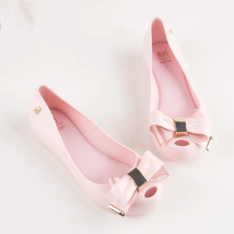 Melissa Shoes Women Sandals Beach Melissa Jelly Shoes Woman Flat Sandals New EVA Soft Candy Colors Summer Casual Slip On Sandals-in Low Heels from Shoes    1
