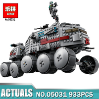 LEPIN 933Pcs Star Wars Clone Turbo Tank 75151 Building Blocks Compatible With Lepin 05031 STAR WARS