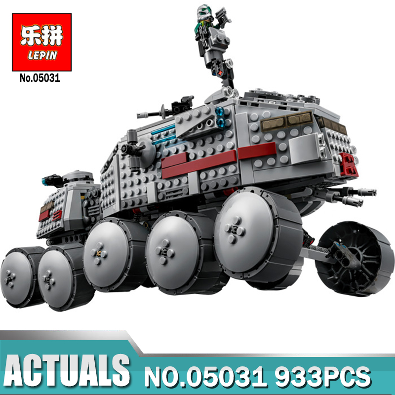 933Pcs Star Wars Clone Turbo Tank 75151 Building Blocks Compatible with legoingly 75151 STAR WARS Toy 05031 Boys Toys Gift star wars boys black
