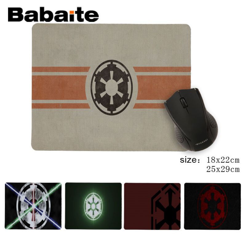Babaite StarWars Empire logo DIY Design Pattern Game mousepad New Arrived High Quality Luxury mousepad image