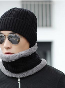 Sombrero gorro de lana de invierno de los hombres ola Coreana más grueso gorro de lana de Corea del invierno y el invierno del casquillo principal del