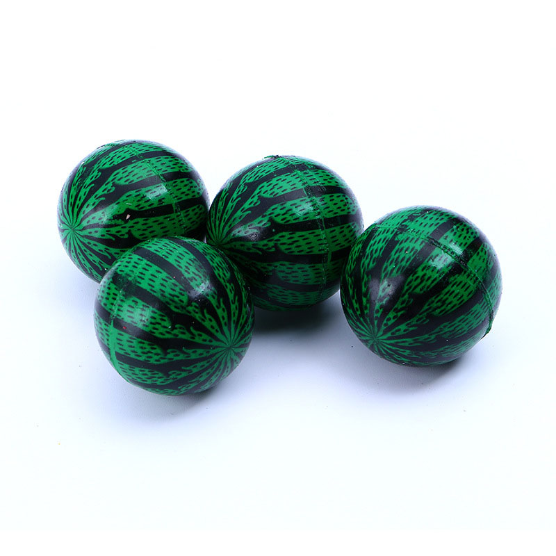 Rubber Bouncy ball toy ball child elastic watermelon Ball kids of pinball bouncy toys for kids Outdoor Game 5pcs 42mm