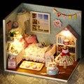 Ручной работы Кукольный Дом Мебель Миниатюрный Кукольный Домик Миниатюре Diy Кукольные Домики Деревянные Игрушки Для Детей Взрослые Подарок На День Рождения H09