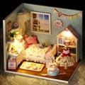Handmade Doll House Furniture Miniatura Diy Doll Houses Miniature Dollhouse Wooden Toys For Children Grownups Birthday Gift H09