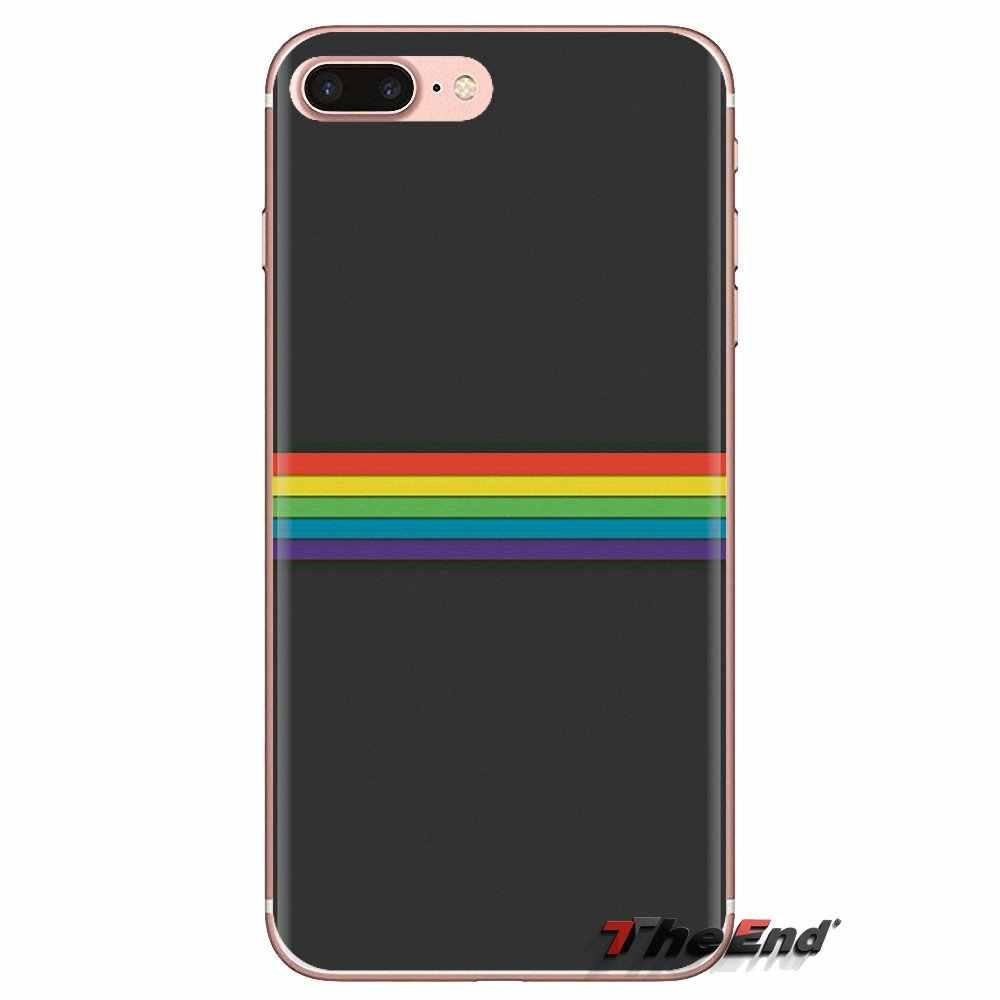 Lembut TPU Ponsel Case Gay Lesbian Lesbian Rainbow Pride Seni untuk Samsung Galaxy J1 J2 J3 J4 J5 J6 J7 j8 Plus 2018 Prime 2015 2016 2017